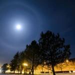 Halo fényjelenség a Hold körül