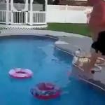 Átugrás az úszógumin