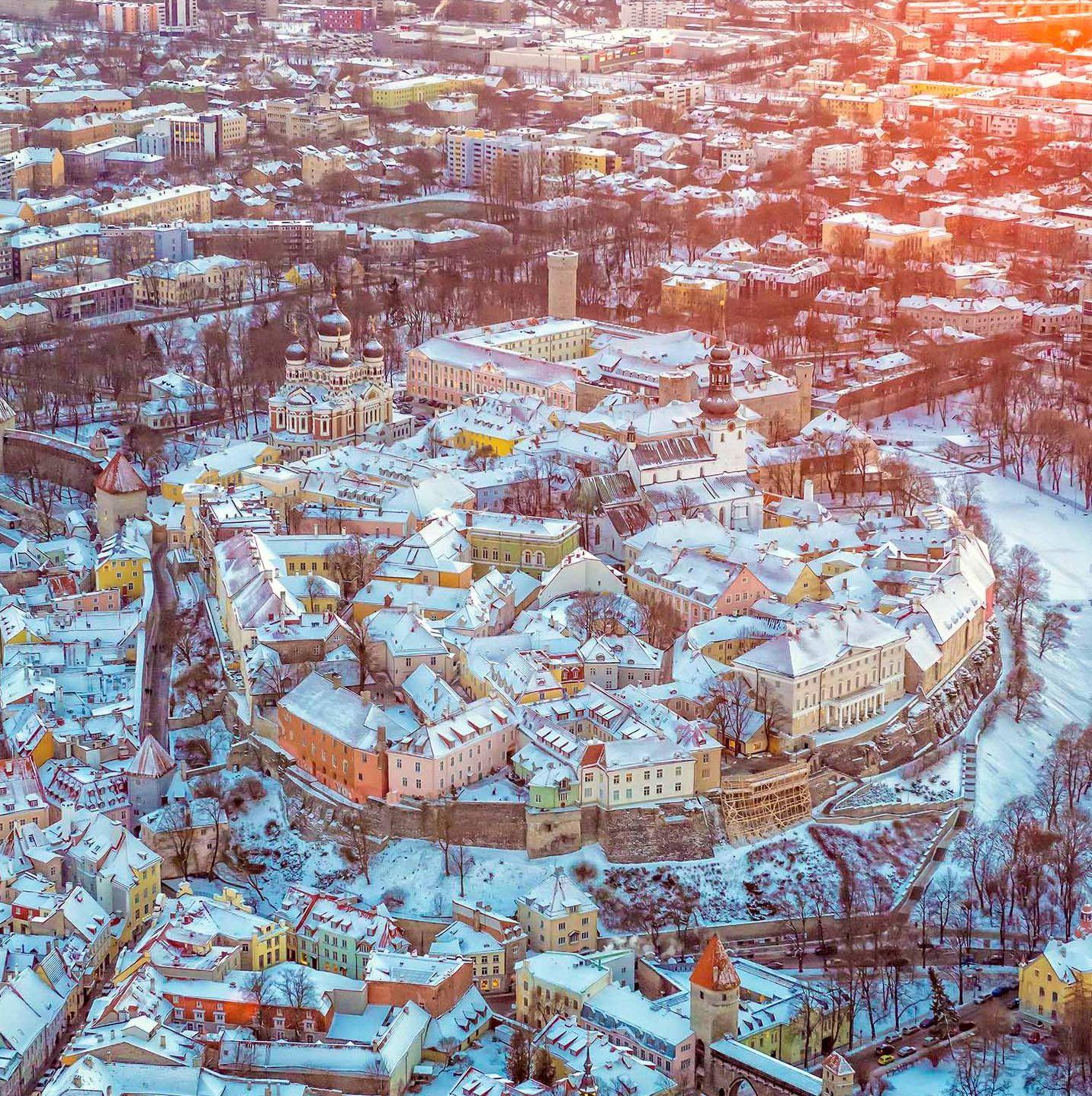 Tallinn belvárosa télen