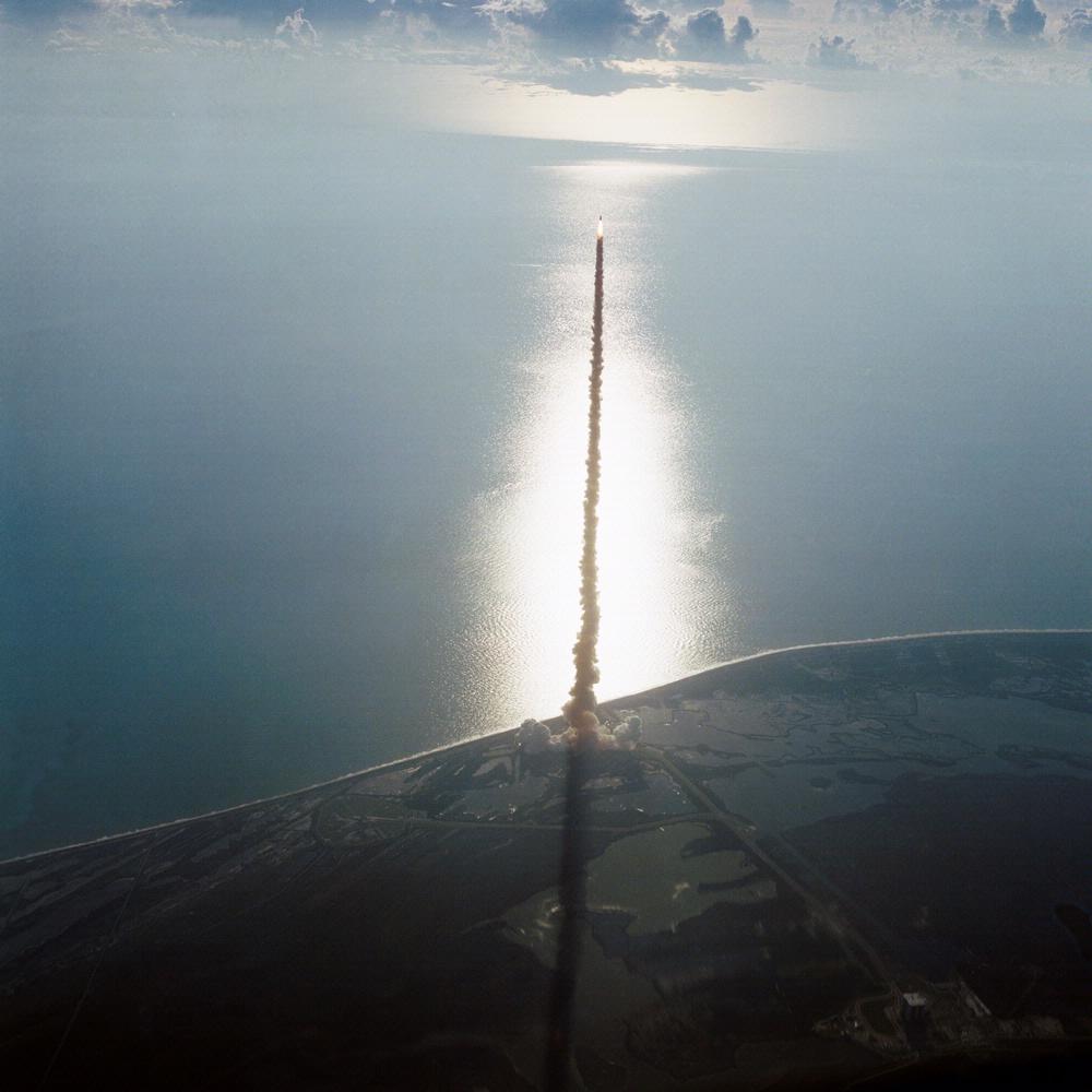 A Discovery űrrepülőgép indítása