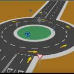 A kétsávos körforgalom használata