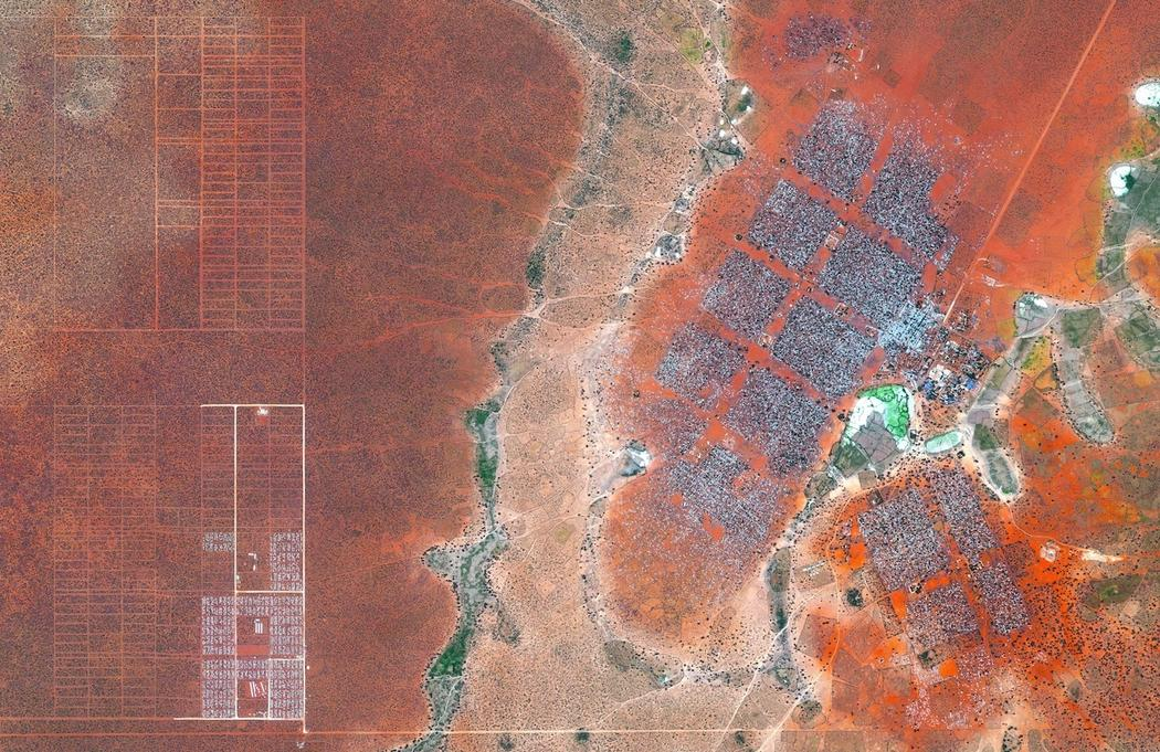 Dadaab menekülttábor Kenyában. Kb 100 ezer ember él itt.
