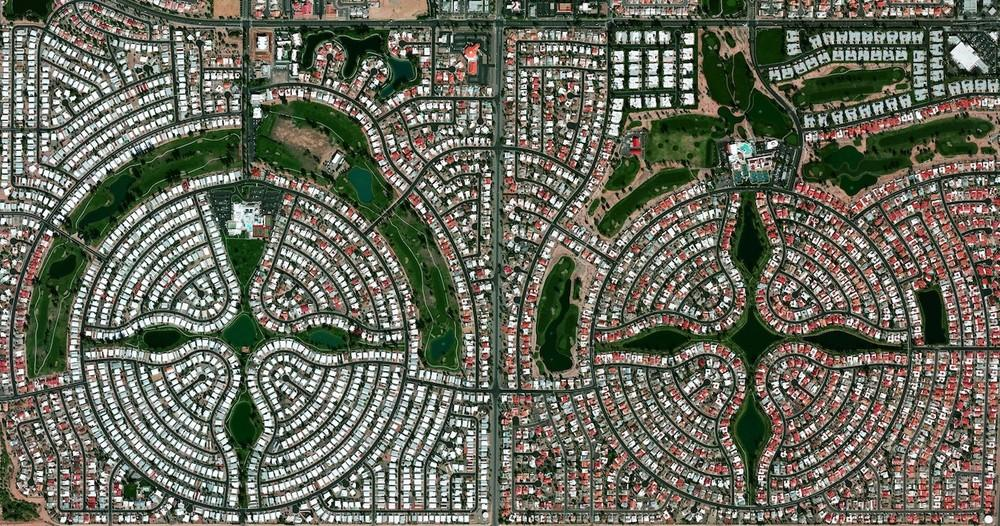 Arizonai nyugdijaspark.Kb 14 ezer ember él itt.
